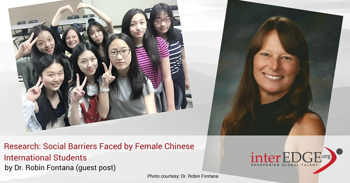 Dr. Robin Fontana conducts research on Chinese students in the US