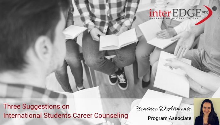 interEDGE-3 suggestions on international student career coulseling