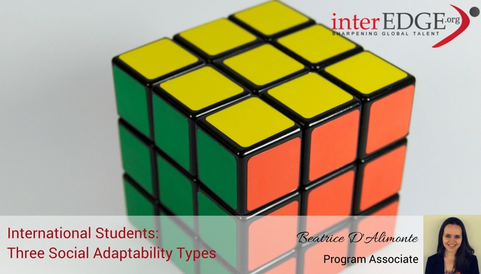 interEDGE international students:three social adaptability types
